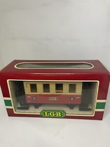 LGB 3011 Second (2nd) Class Red Passenger Coach Car *G-Scale* NOS