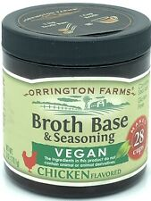 Orrington Farms Broth Base & Seasoning Vegan Chicken Flavored 6oz NEW FRESHIP f4