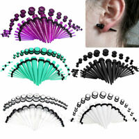 36pcs Acrylic Ear Taper Stretching Kit Gauge Expenders Set Body Piercing Plugs
