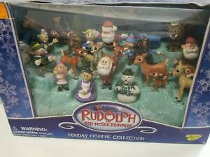 Vintage Memory Lane Rudolph The Red Nose Reindeer Holiday Figurine Collection...
