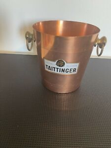 Vintage Taittenger Champagne copper ice bucket made in France