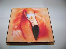 Deko Fliese Flamingo hell