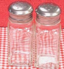 2 Dozen Square Shape 2 Oz Restaurant Salt & Pepper Shaker Glass Stainless Lid
