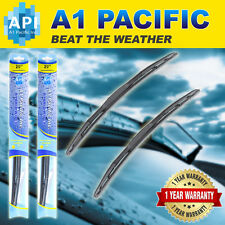 "Hybrid Windshield Wiper Blades silicone Bracketless J-HOOK OEM Premium 24"" & 20"""
