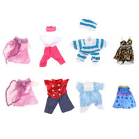 5set Cute Handmade Clothes Dress For Mini Kelly Mini Chelsea Doll Outfit Gift LJ