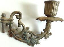 Antique Vtg Lamp Part Wall Sconce Candle Holder Candelabra Light Fixture Metal