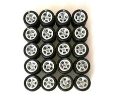 Hot Wheels 5 Spoke Rubber Tire  - 10 sets JDM (Chrome) Limited Stock `