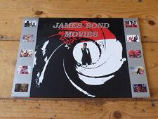James Bond 007 Movies UK phonecard set of 19 Mint in folder Poster art design