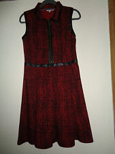 LADIES PEACOCK RED AND BLACK SMART  DRESS SIZE 12