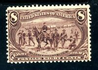 USAstamps Unused FVF US 1898 Trans-Mississippi Scott 289 OG MNH Gum Skips