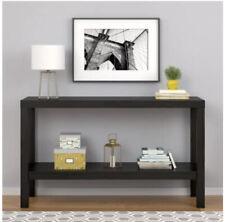 Parsons Console Table Sofa Espresso Kitchen Entryway Storage Furniture-Black Oak