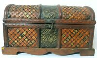 Box Vintage Jewelry Wood Wooden Case Storage Antique Organizer Trinket Ring Gift