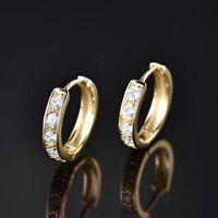 Women Jewelry 14k Gold Filled Womens Sapphire Crystal Fashion Hoop Earrings Gift