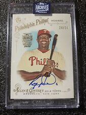 Ryan Howard 2020 Topps Archives Retired Players Auto 24/34