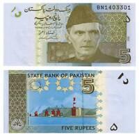 Pick 53a Pakistan 5 Rupees 2008  Unc. / 474582vvv