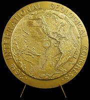 Medal 90mm Congress Geological Geology Geology Paris 1980 Plate Tectonics Medal