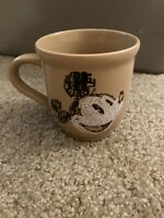 Disney Store Exclusive Mickey Mouse Coffee Cup Mug Tan Brown