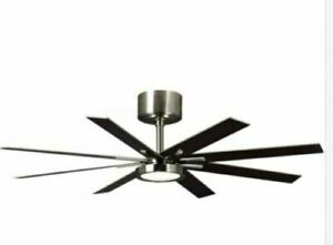 Monte Carlo 8EER60BSD Empire 60 in. LED Indoor Brushed Steel Ceiling Fan