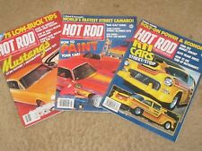 (3) Hot Rod Magazine April July Dec.1980 Mustangs '57 Chevy '52 Ford Good Cond.