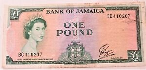 1960BBetter Date Bank of Jamaica One Pound Note PAYTON