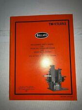 Bullard - Replacement Parts Manual - Cross Rail Raising Mechanism (1979) Tm-Vtl