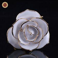 WR Everlasting White Rose 24K Gold Dipped Natural Flower Romantic Gift In Box