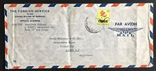Congo Republic US Foreign Service cover 1960's to London UK