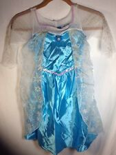 Disney Princess Elsa Costume (4-6) Youth Frozen Dress Up Fantasy Play Blue
