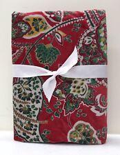 NEW Pottery Barn Adela Velvet Print KING Sham~RED MULTI