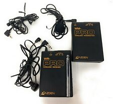 Azden WM Pro Wireless Microphone And Receiver w/ Extra Mic & 1 Clip