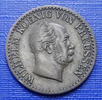 German States Prussia 1 Silber Groschen~1866 (A) Wilhelm I~KM#485~Silver~EF~#421