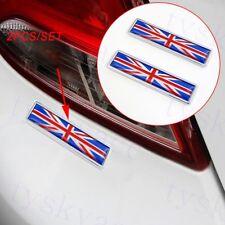 2X Chrome Car Accessories 3D Sticker Decal Britain UK Flag Emblem Badge Decorate