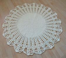 Handmade Artist Crochet Round Doily Doilies Rug Mat Carpet OOAK