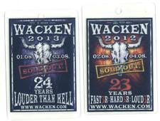 Wacken Pässe - Pass 2012 und Pass 2013 im Set - gebraucht - wie abgebildet