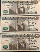Egypt 3 Notes Of 100 Pounds