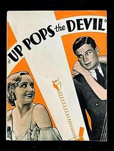 UP POPS THE DEVIL 1931 ORIGINAL MOVIE HERALD, SKEETS GALLAGHER, CAROLE LUMBARD