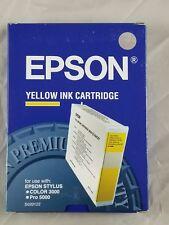 Genuine Epson Stylus Color 3000 Pro 5000 Yellow Ink Cartridge  S020122