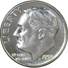 1955 10c Roosevelt Silver Dime US Coin Choice Proof