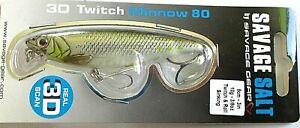 Savage Gear Twitch Minnow Salt Wobbler, Twitchbait, Kunstköder, 8cm, Sinking,Neu