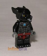 LEGO wilhurt da Set 70013+70009 LEGGENDE DI Chima NERO LUPO NUOVO loc015
