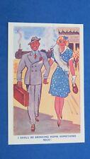 Vintage Railways Comic Postcard 1930s Railway Steam Engine Station Theme