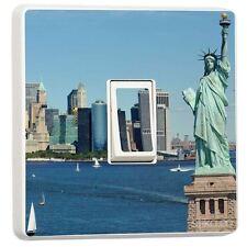 LIBERTY STATUA New York Singolo Interruttore Luce Adesivo In Vinile Copertura Pelle da stika.co