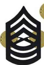 MASTER SERGEANT MYSGT E-8 LAEPL HAT COLLAR BLACK PIN INSIGINIA RANK US MARINES