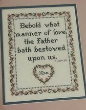 THE FATHER'S WONDEROUS LOVE cross stitch book Praying Hands VINTAGE 11 designs