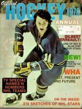 1976 Official Hockey Annual magazine, Gil Perreault, Buffalo Sabres, Fair
