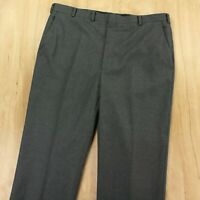 vtg HICKEY FREEMAN wool trouser pants 38 x 30 gray flat front usa made talon