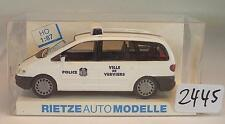 Rietze 1/87 50743 FORD GALAXY BUS VAN POLIZIA POLICE Verviers Belgio OVP #2445