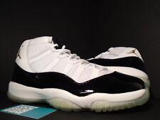 2005 Nike Air Jordan XI 11 Retro DMP WHITE BLACK GOLD CONCORD 136046-171 DS 10.5