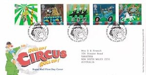 Great Britain 2002 Circus - Roll Up! FDC