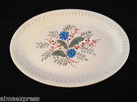 """Stangl Pottery Hand Painted Blue Daisy - 14-3/4"""" OVAL SERVING PLATTER"""